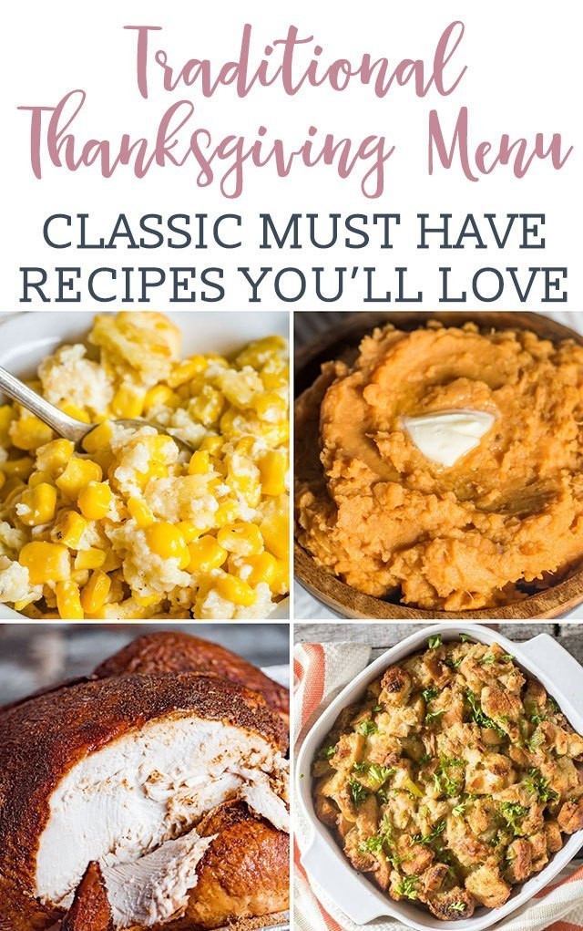Traditional Southern Thanksgiving Dinner Menu  Traditional Thanksgiving Dinner Menu Recipes Turkey