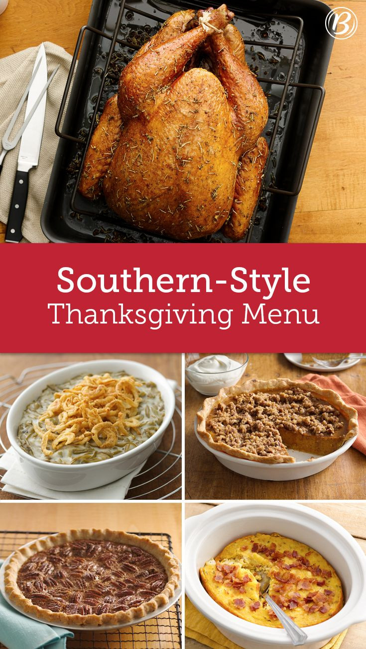 Traditional Southern Thanksgiving Dinner Menu  Southern Style Thanksgiving Menu