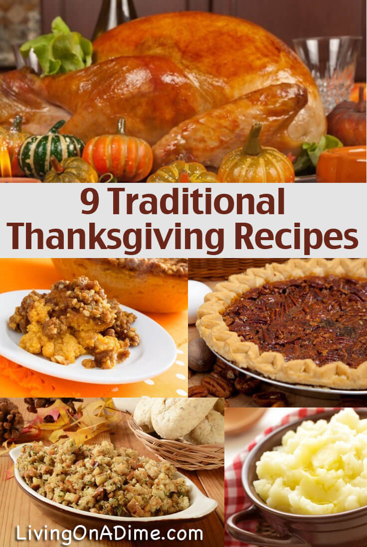 Traditional Thanksgiving Desserts  8 Traditional Thanksgiving Recipes Living on a Dime