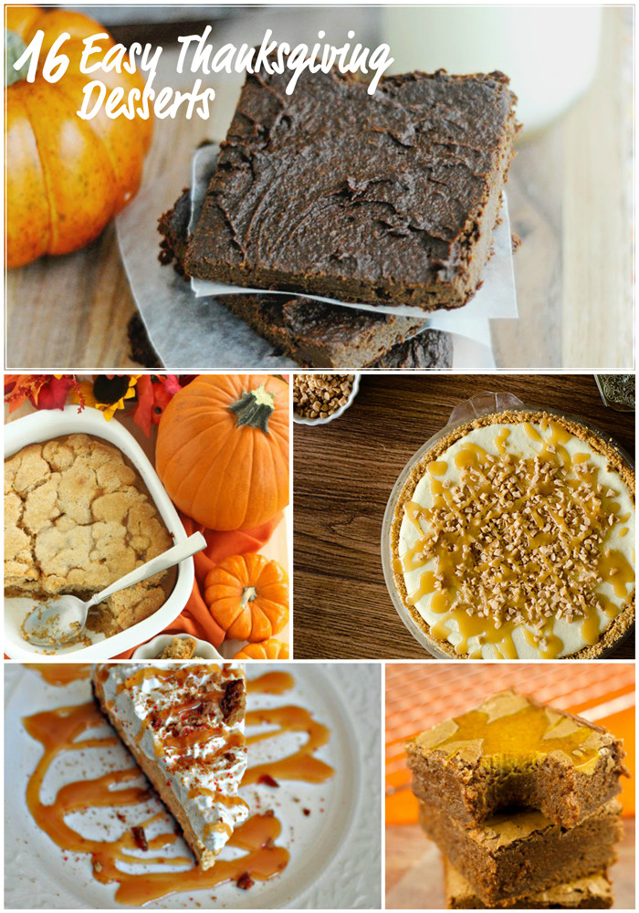 Traditional Thanksgiving Desserts  Easy Thanksgiving Dessert Recipes