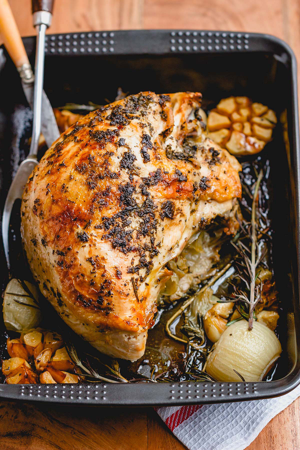 Turkey Breast Recipe For Thanksgiving  Roasted Turkey Breast Recipe with Garlic Herb Butter