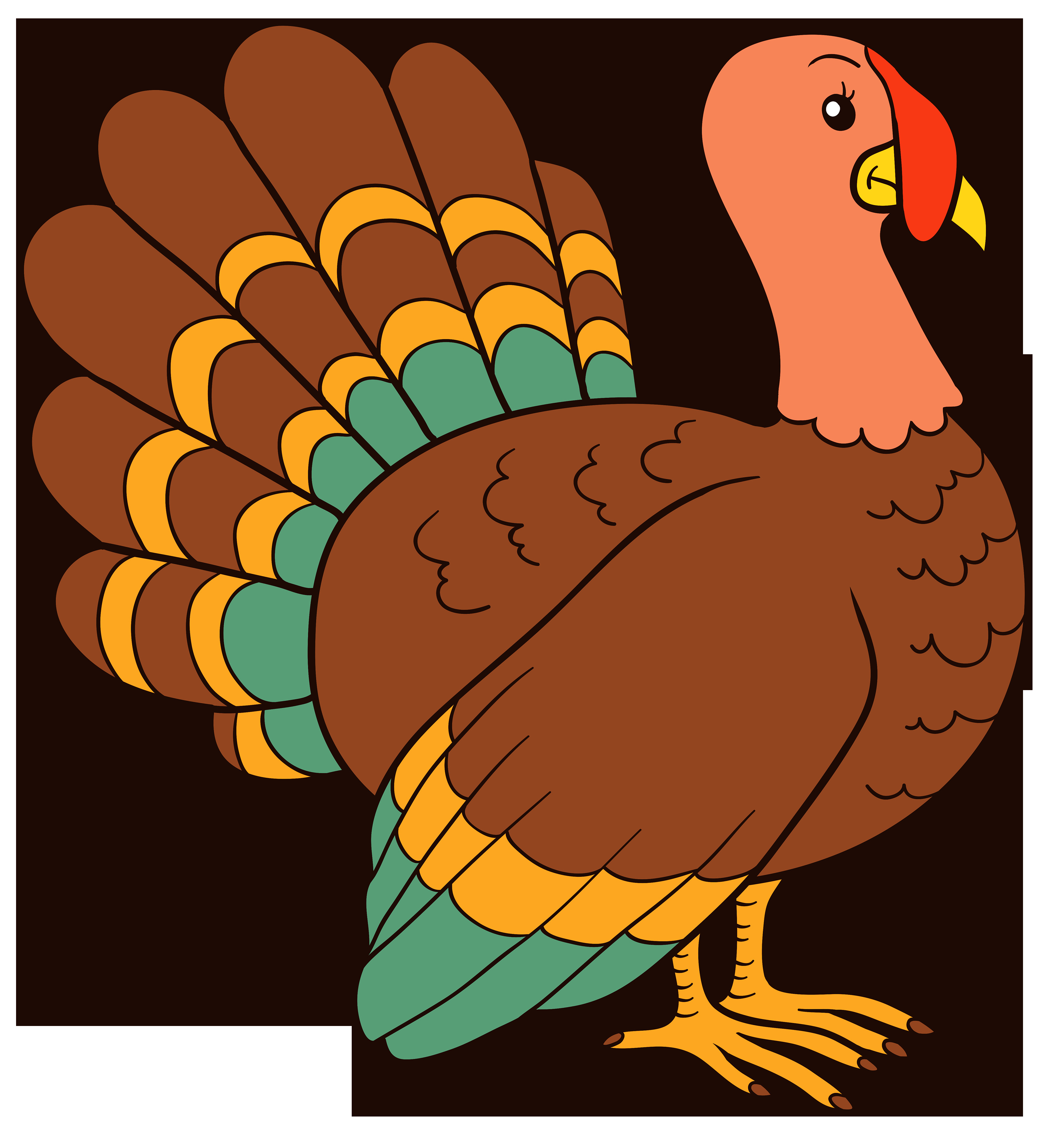 Turkey Cartoon Thanksgiving  Turkey PNG Clipart Image Best WEB Clipart