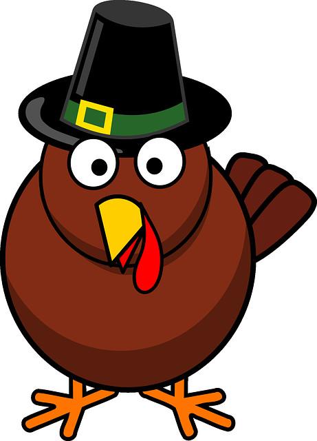 Turkey Cartoon Thanksgiving  Free vector graphic Cartoon Fall Thanksgiving Turkey