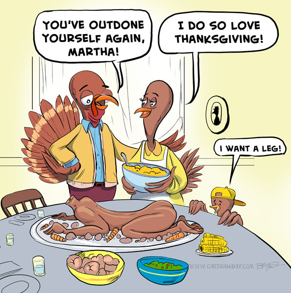Turkey Cartoons Thanksgiving  ENDED O2PUR time Thanksgiving Black Friday Cyber