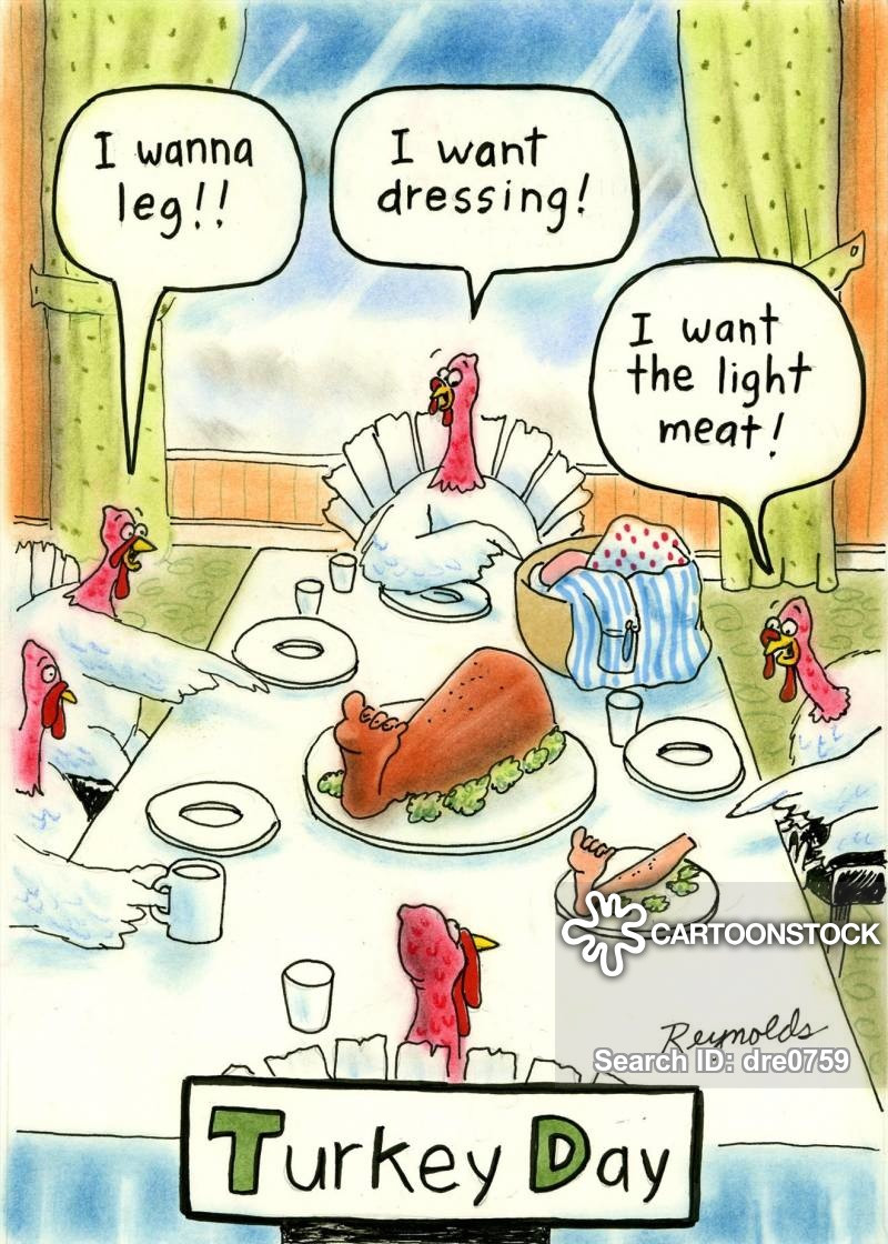 Turkey Cartoons Thanksgiving  Thanksgiving Meal Cartoons and ics funny pictures