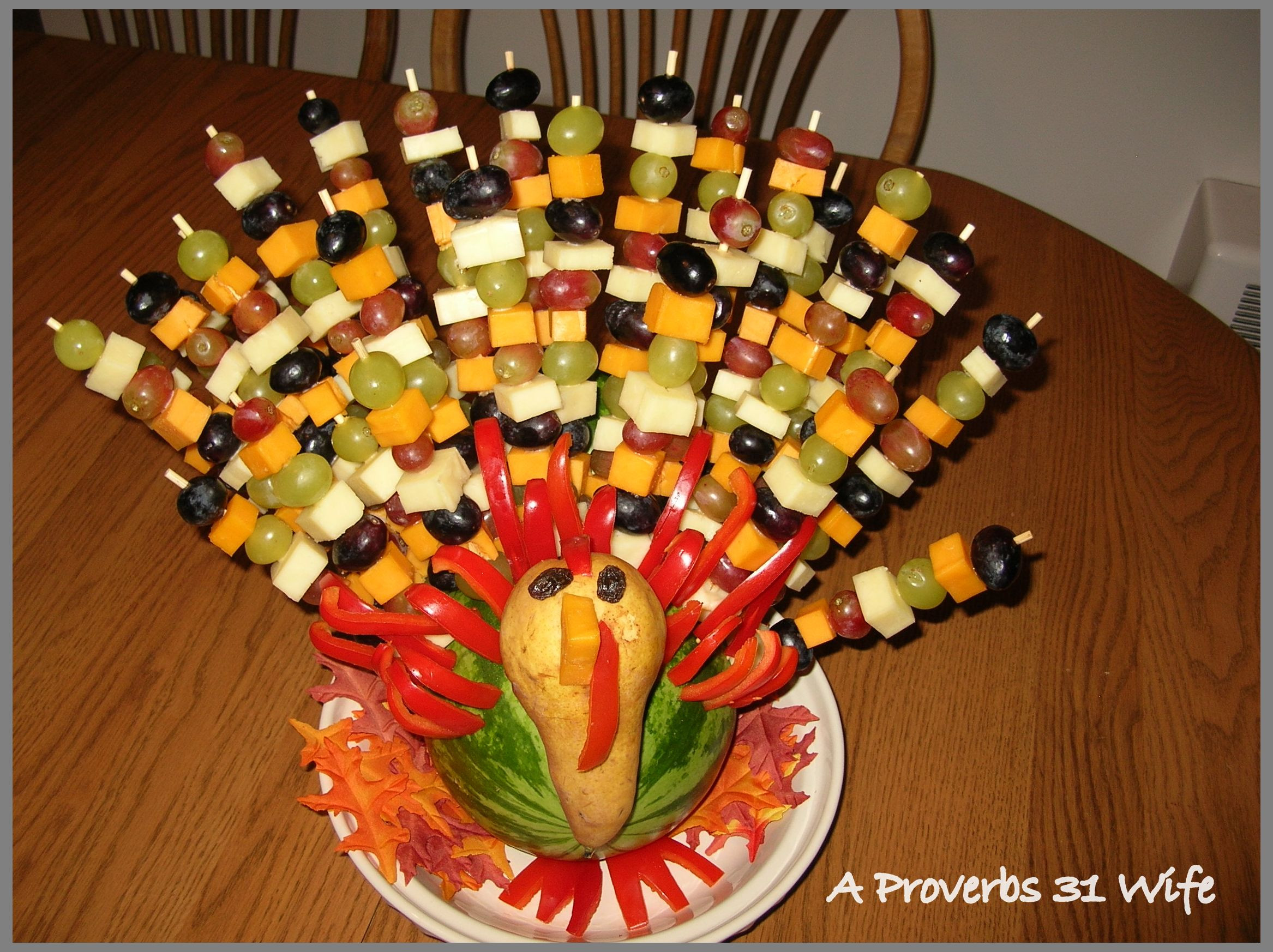 Turkey Centerpieces Thanksgiving  Fruit Turkey for Your Table A Proverbs 31 Wife