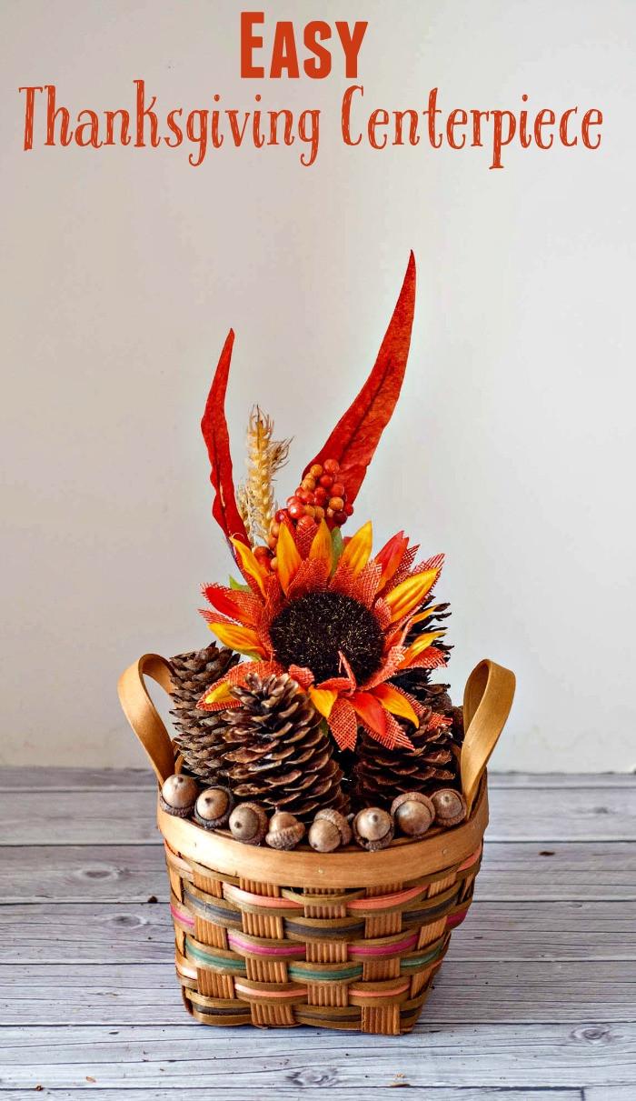 Turkey Centerpieces Thanksgiving  Easy Thanksgiving Centerpiece