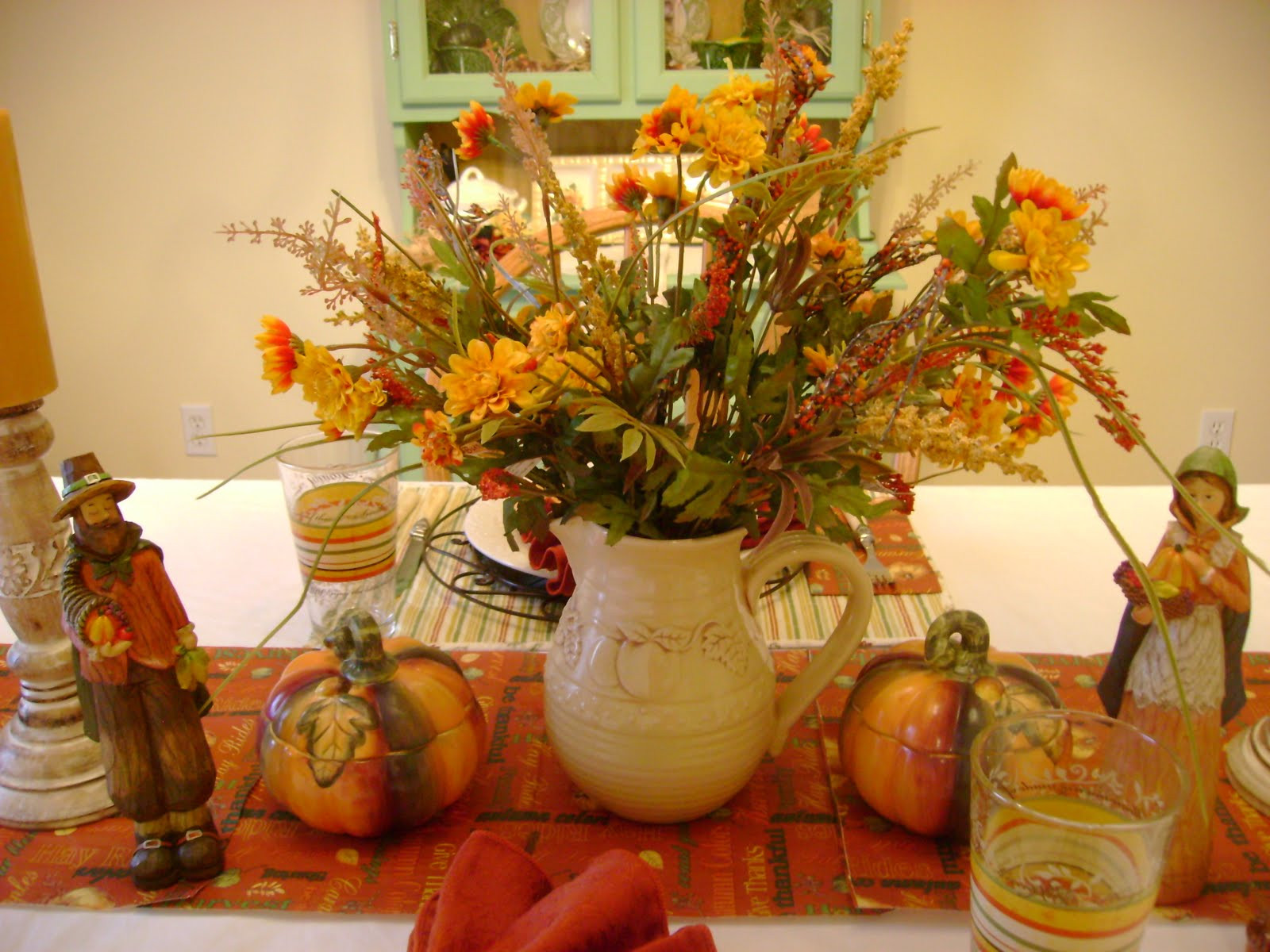 Turkey Centerpieces Thanksgiving  The Sunny Side of the Sun Porch My Thanksgiving Table