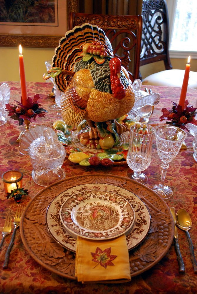 Turkey Centerpieces Thanksgiving  Decorating for Autumn and a Thanksgiving Tablescape