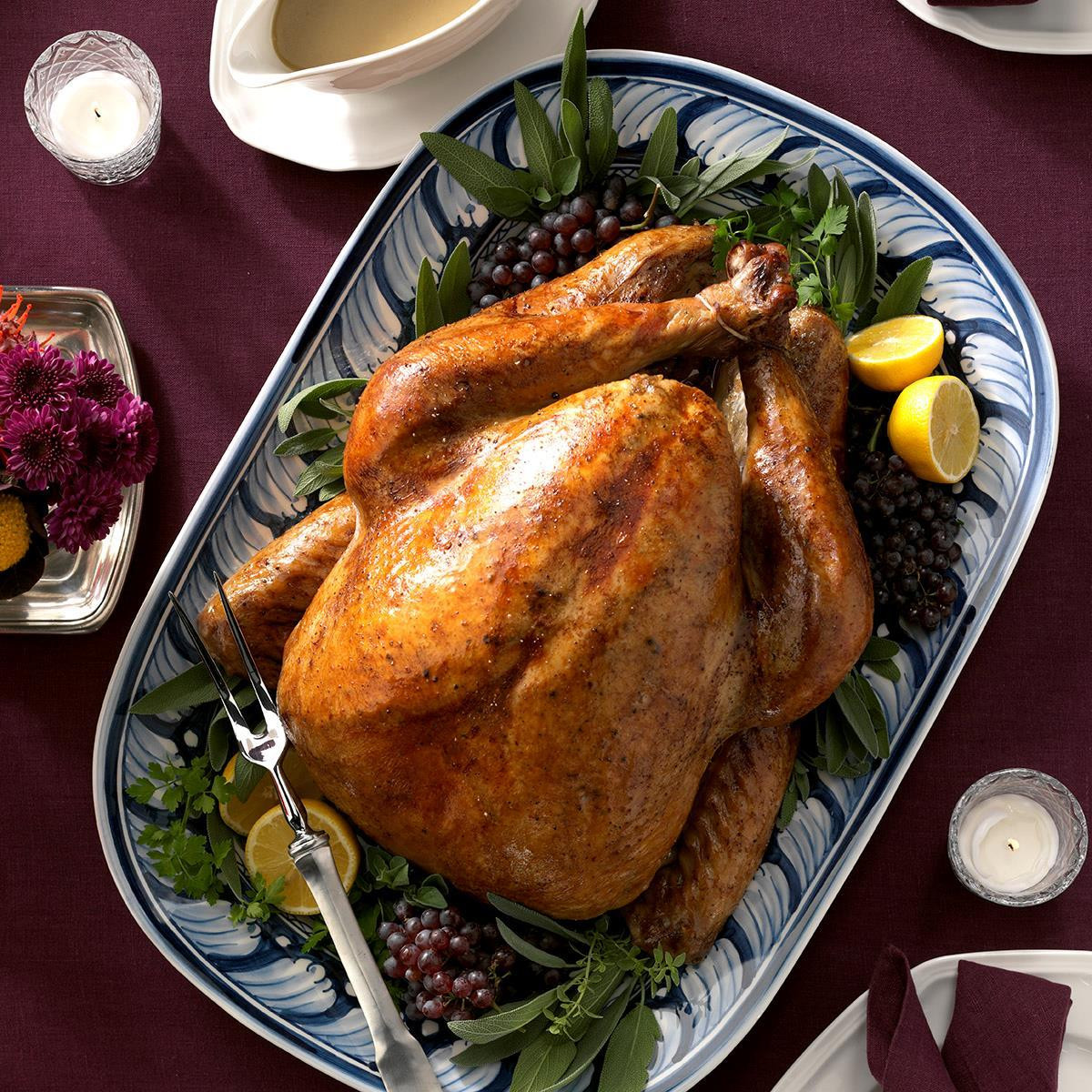 Turkey Cooking Recipes For Thanksgiving  Maple Sage Brined Turkey Recipe