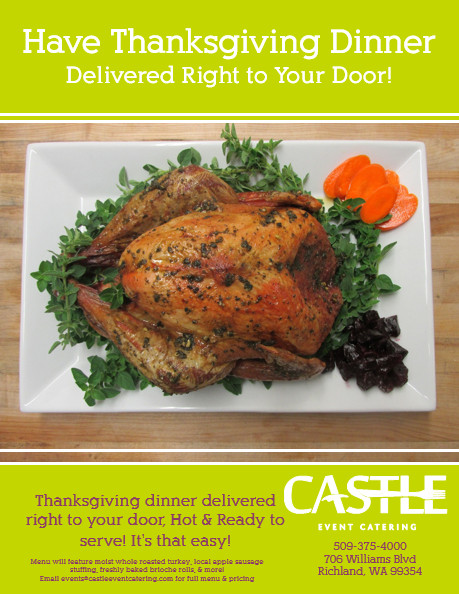 Turkey Delivery For Thanksgiving  Castle Catering s Thanksgiving Delivery In Richland