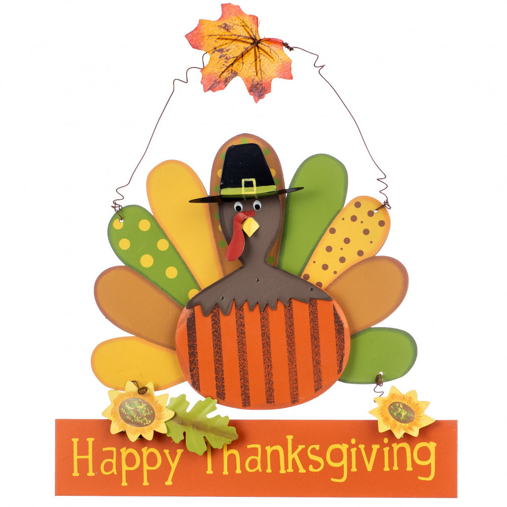 Turkey Happy Thanksgiving  Happy Thanksgiving Turkey Wall Hanger [