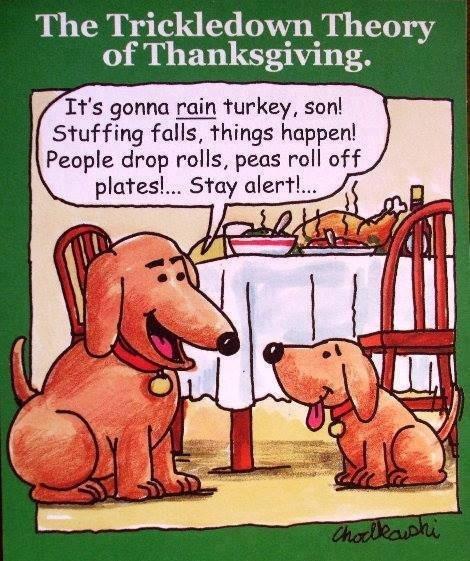 Turkey Humor Thanksgiving  Trickledown Thanksgiving