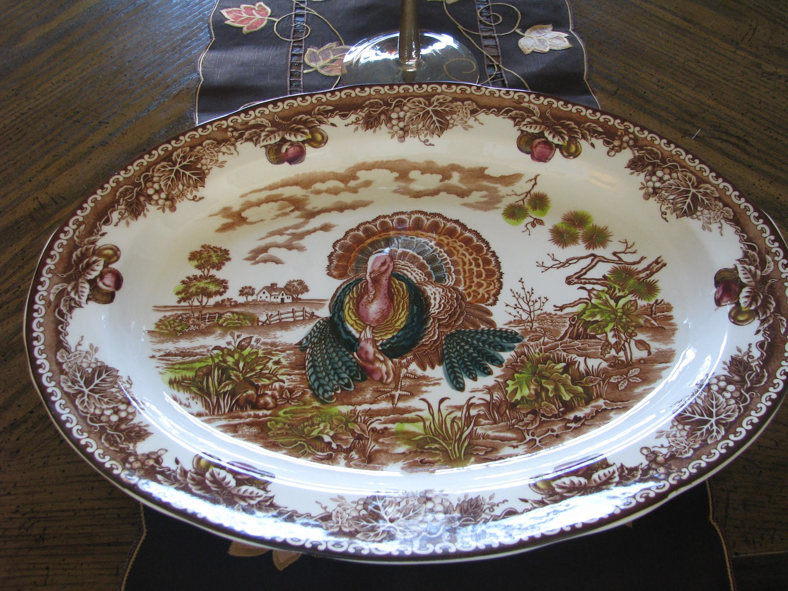 Turkey Platters Thanksgiving  Designs by Pinky My New Turkey Platter