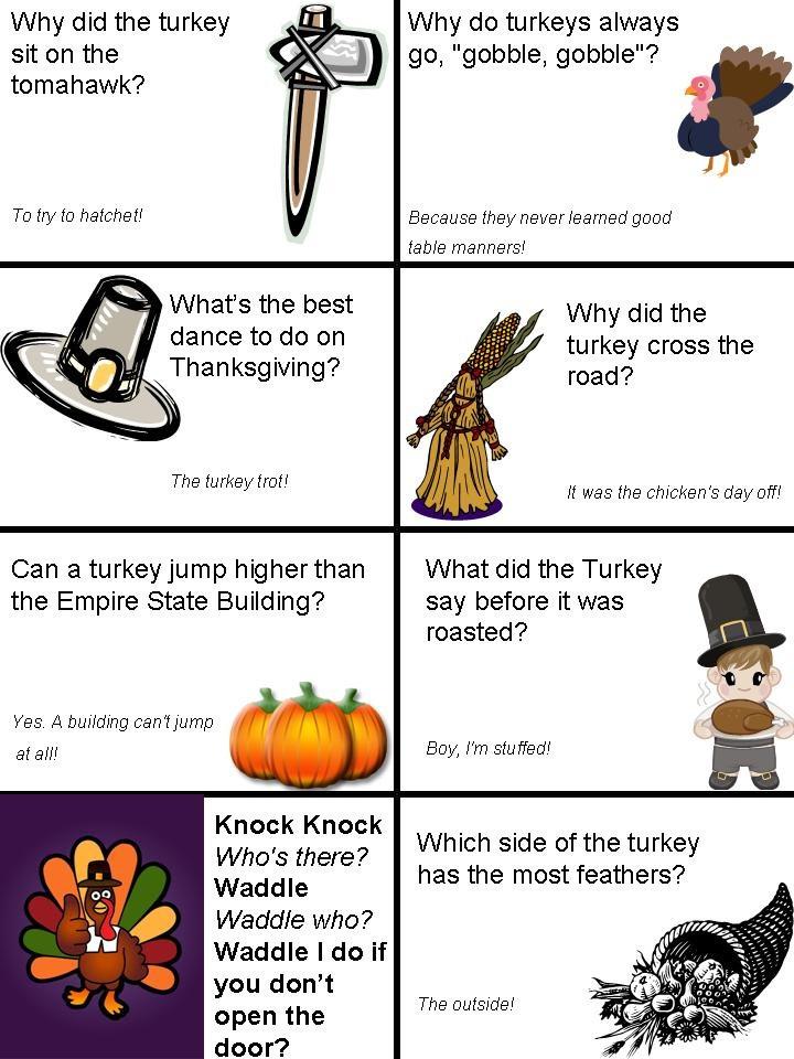 Turkey Puns Thanksgiving  Thanksgiving lunch box jokes page 1 Kids