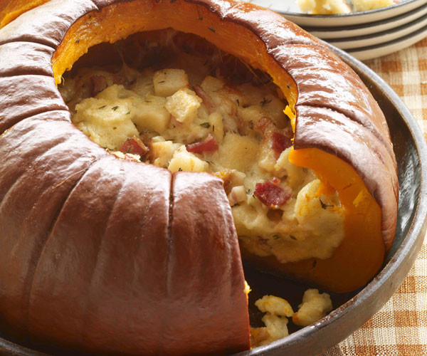 Turkey Recipes For Thanksgiving Dinner  Pumpkin Stuffed with Everything Good Recipe FineCooking