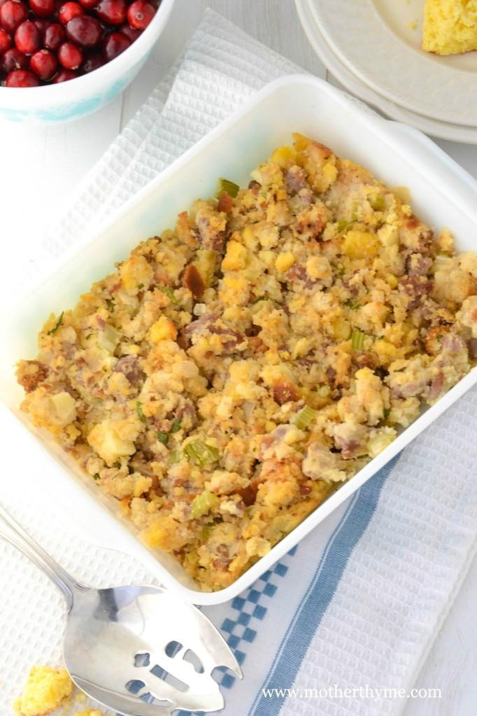 Turkey Sausage Stuffing Recipes Thanksgiving  Turkey Sausage and Cornbread Stuffing Recipe