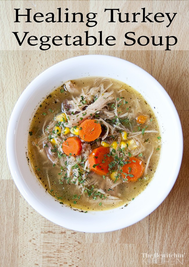 Turkey Soup From Thanksgiving Leftovers  Turkey Ve able Healing Soup