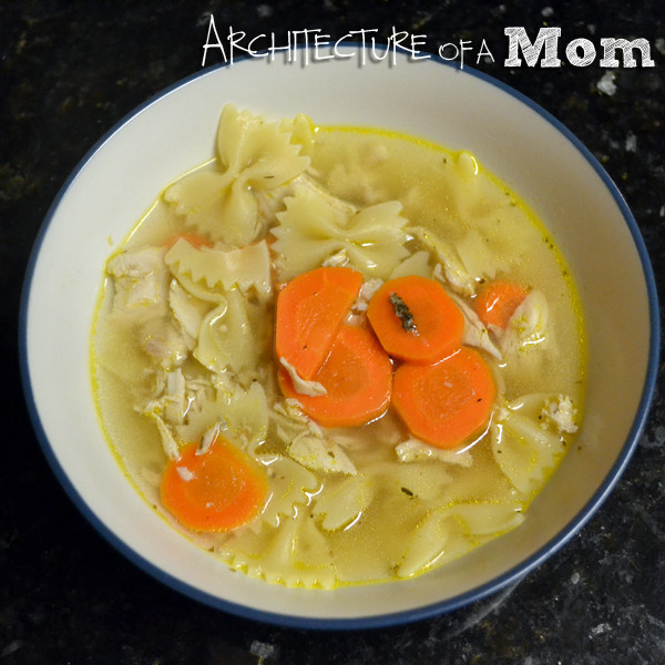 Turkey Soup From Thanksgiving Leftovers  Architecture of a Mom Leftover Turkey Soup