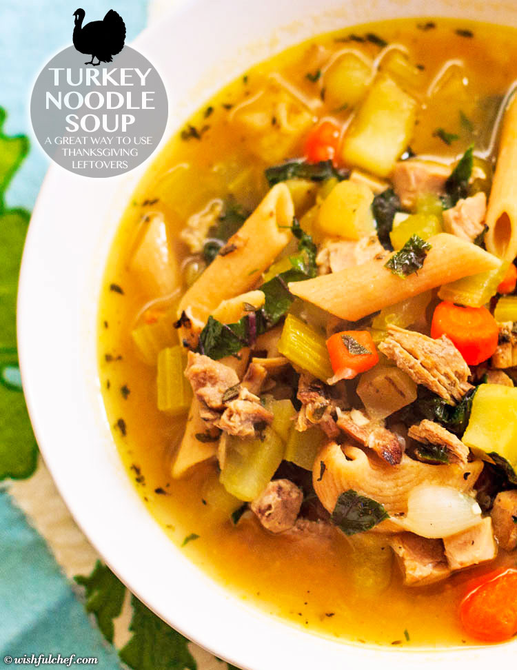 Turkey Soup From Thanksgiving Leftovers  Turkey Noodle Soup Using Thanksgiving Leftovers