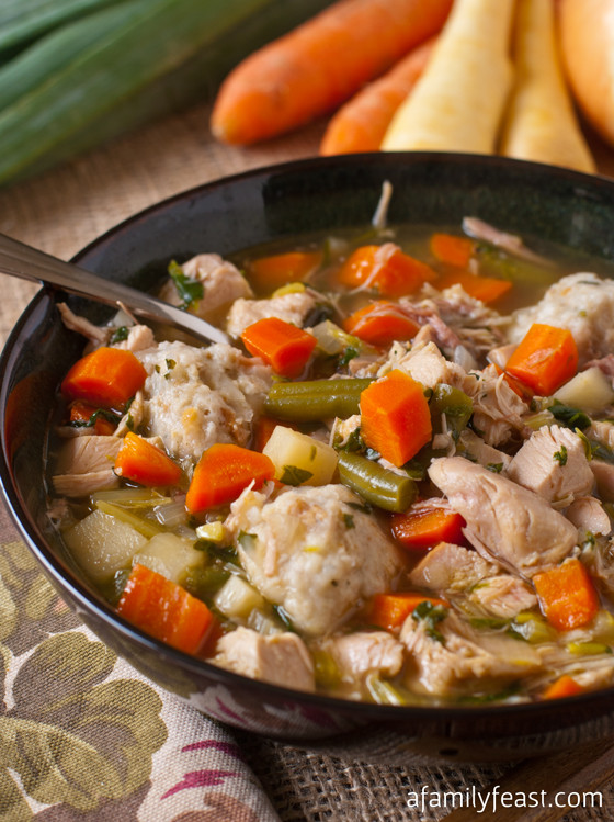 Turkey Soup From Thanksgiving Leftovers  Turkey Soup with Potato Dumplings A Family Feast