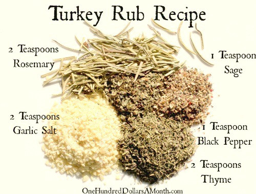 Turkey Spices For Thanksgiving  Easy Kitchen Tips Turkey Rub Recipe e Hundred