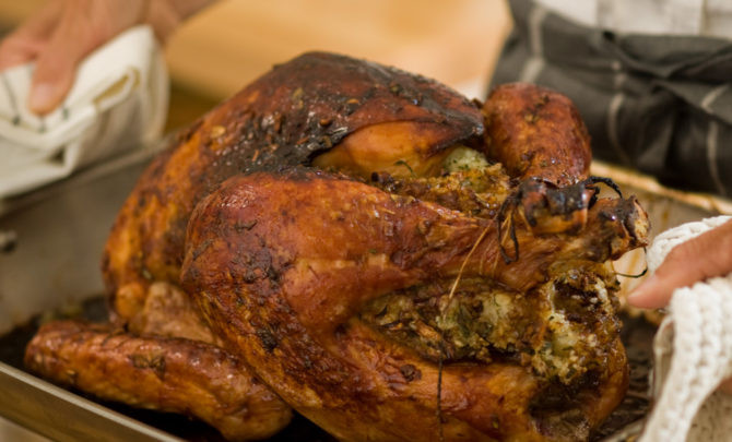 Turkey Stuffing Recipes For Thanksgiving  Asian Roast Turkey with Sticky Rice Stuffing Recipe Relish