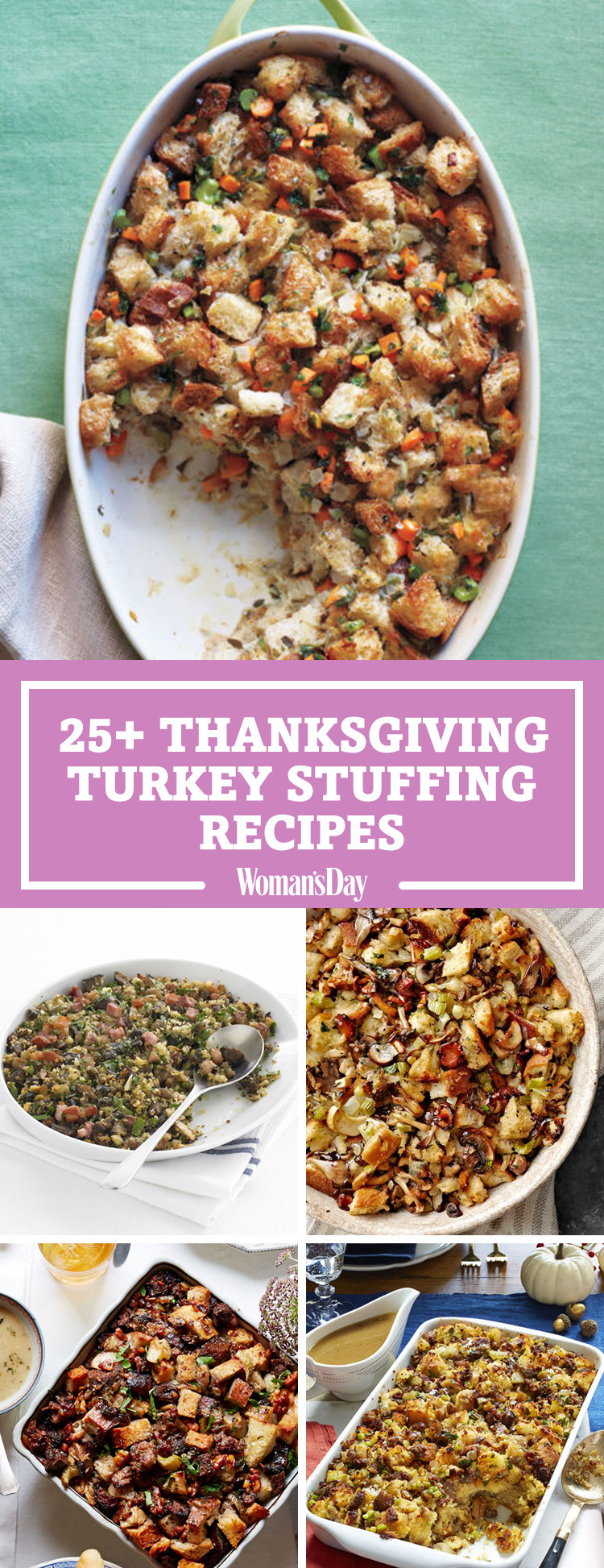 Turkey Stuffing Recipes For Thanksgiving  28 Best Turkey Stuffing Recipes Easy Thanksgiving