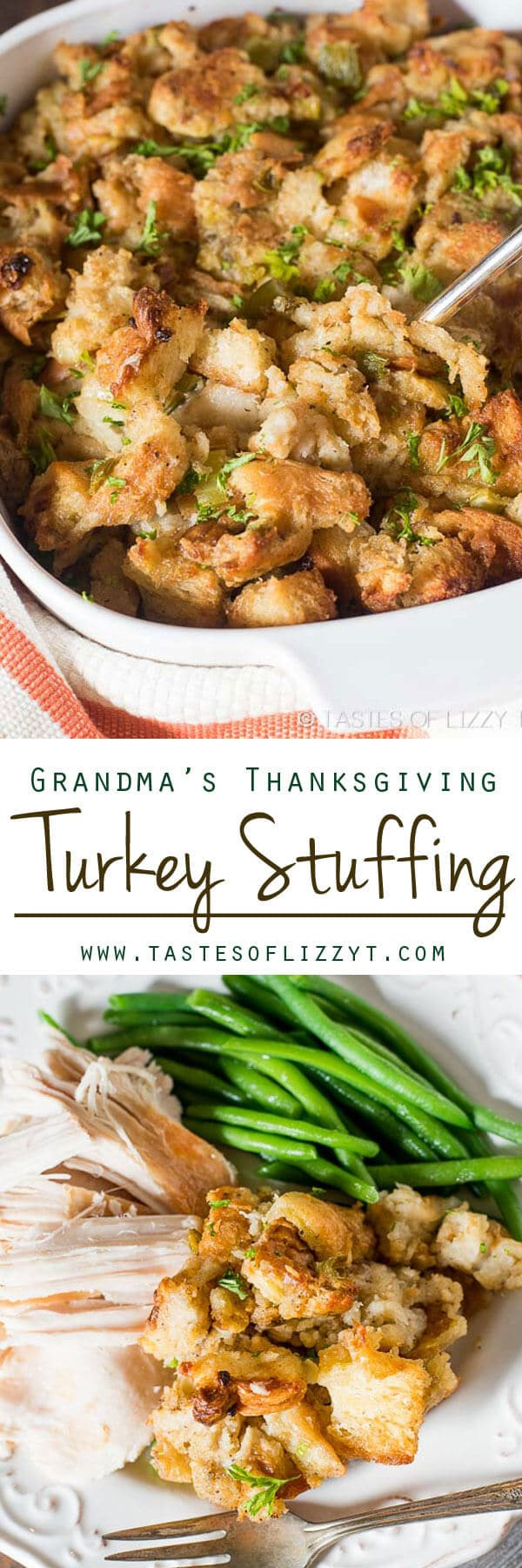 Turkey Stuffing Recipes For Thanksgiving  Grandma s Thanksgiving Turkey Stuffing Long Time Family