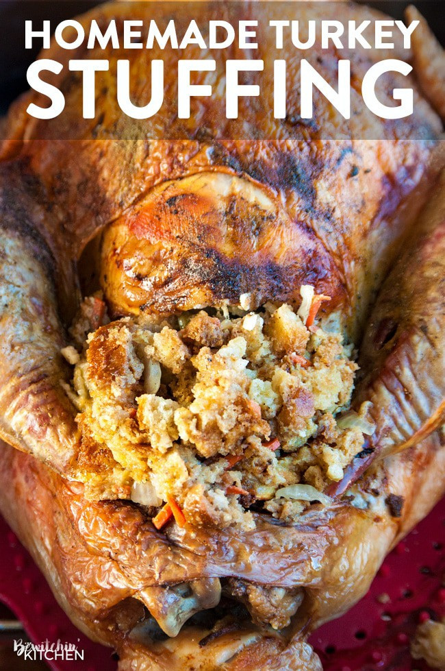 Turkey Stuffing Recipes For Thanksgiving  Homemade Stuffing Recipe