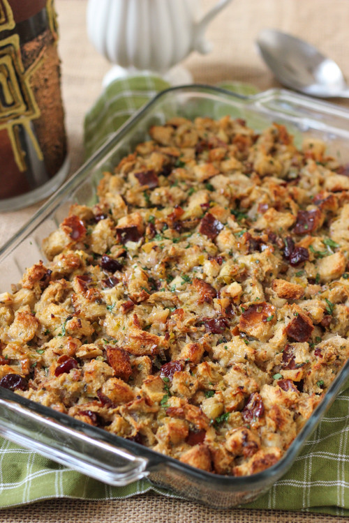 Turkey Stuffing Recipes For Thanksgiving  Thanksgiving Challah Herb Dressing Olga s Flavor Factory