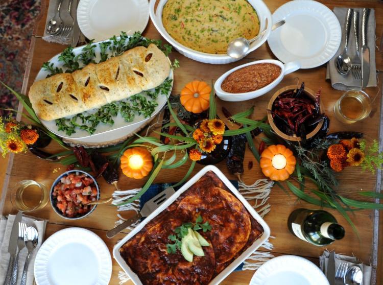 Turkey Substitutes For Thanksgiving  Thug Kitchen authors offer vegan Thanksgiving