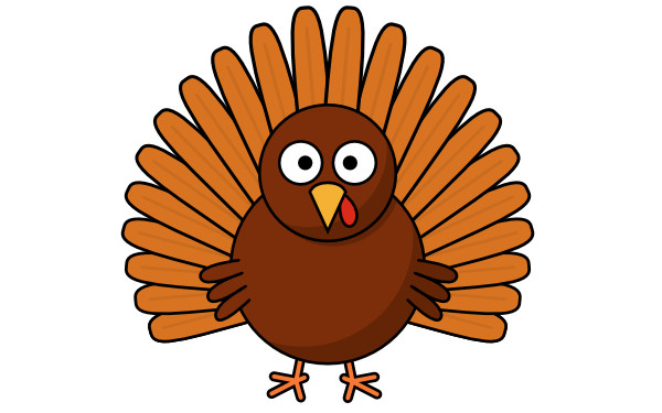 Turkey Thanksgiving Cartoon  How to Draw a Cartoon Turkey
