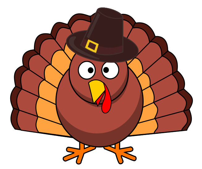 Turkey Thanksgiving Cartoon  Free Turkey Day Clipart 1 page of Public Domain Clip Art