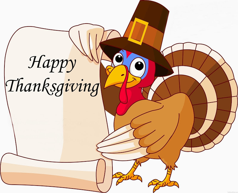 Turkey Thanksgiving Clipart  Happy Thanksgiving From All of Us at Foxcroft Academy