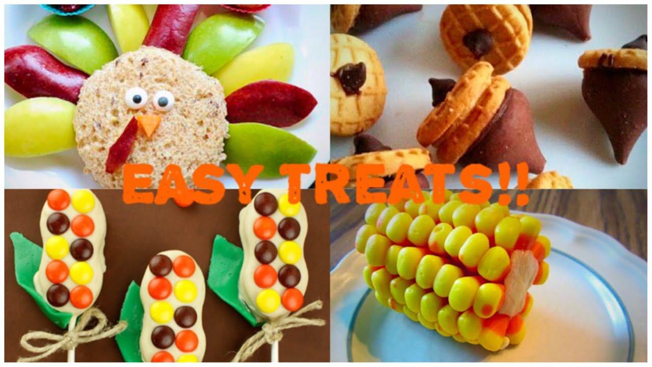 Turkey Treats For Thanksgiving  EASY DIY No Bake Thanksgiving Treat Ideas Great For Kids