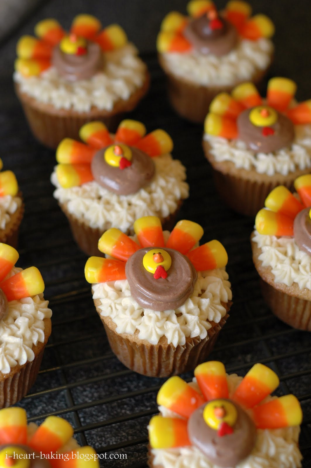 Turkey Treats For Thanksgiving  i heart baking thanksgiving turkey cupcakes brown