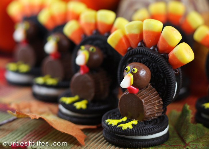 Turkey Treats For Thanksgiving  Oreo Turkey Treats For Thanksgiving