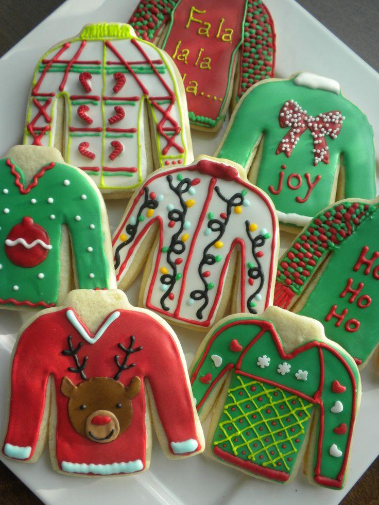 Ugly Christmas Cookies  ugly sweater cookies