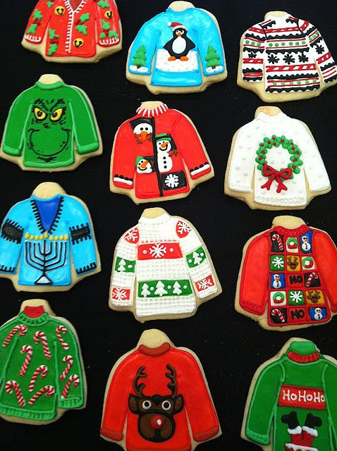 Ugly Christmas Cookies  Ugly Christmas Sweater Swag The Crafty Chica