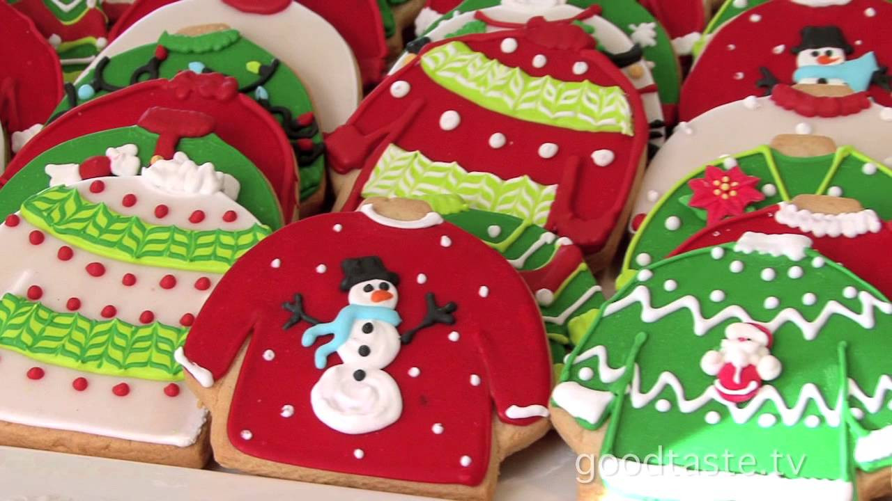 """Ugly Christmas Cookies  GoodTaste """"Tacky"""" Sweater Cookies Rule at Lily s"""