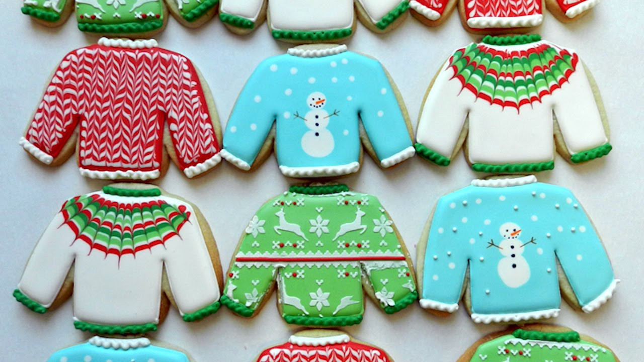 Ugly Christmas Cookies  How to Decorate Ugly Christmas Sweater Cookies