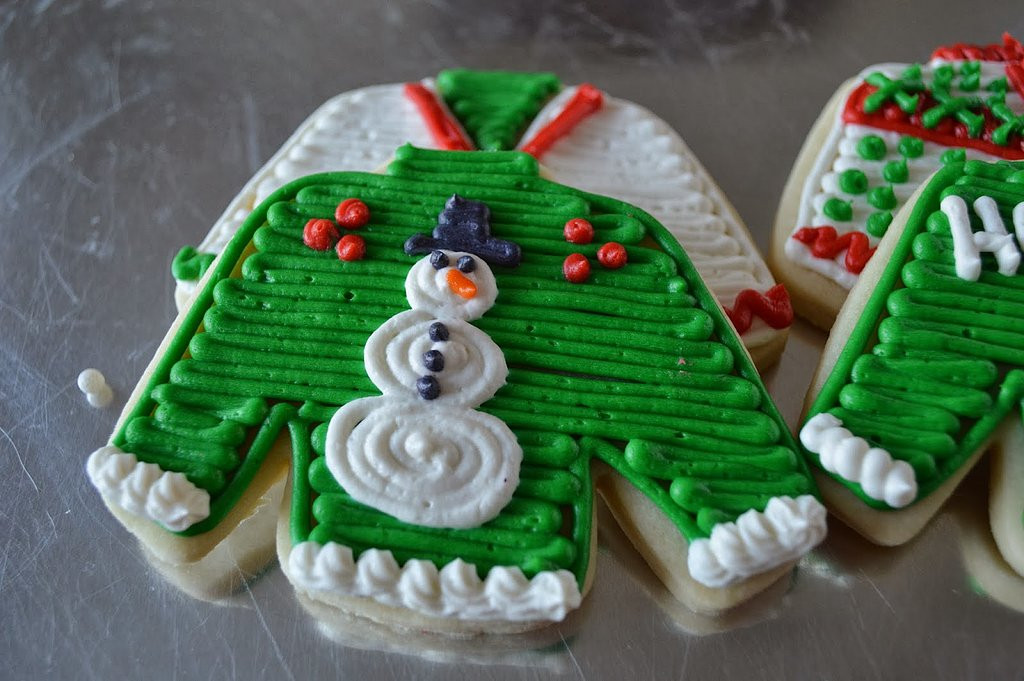 Ugly Christmas Cookies  Ugly Christmas Sweater Cookies