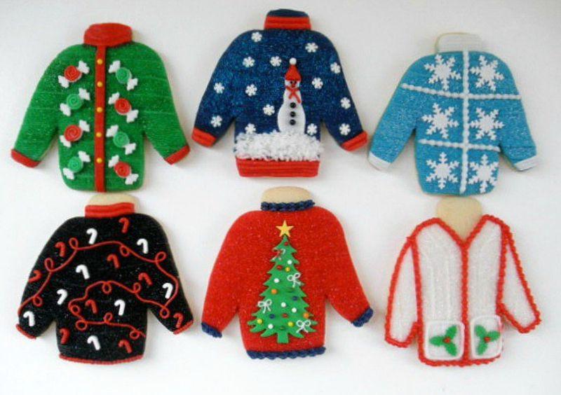 Ugly Christmas Cookies  Ugly Sweater Christmas Cookies ugly sweater christmas
