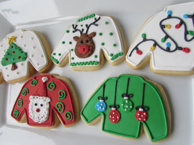 Ugly Christmas Cookies  Ugly Sweater Cookies Christmas Cookies Christmas Favors