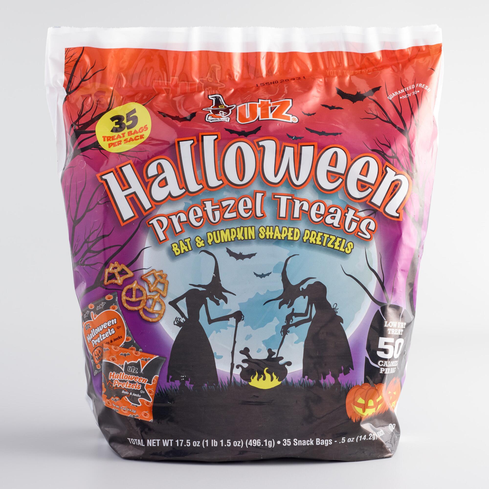Utz Halloween Pretzels  Utz Halloween Pretzel Bag 35 Count