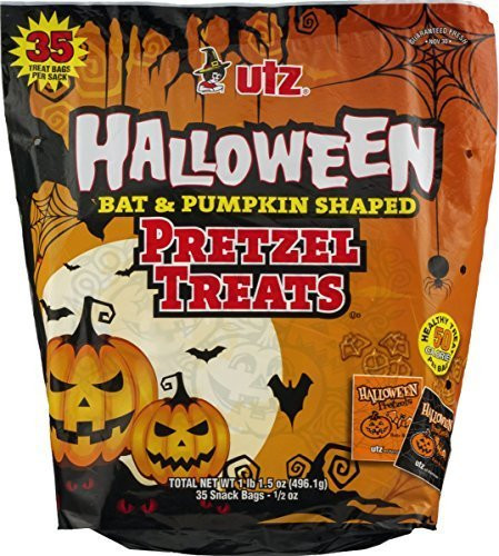 Utz Halloween Pretzels  Utz Halloween Bat & Pumpkin Shaped Pretzel Treats 35