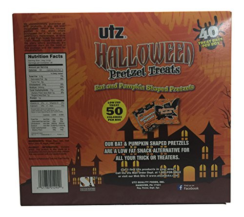 Utz Halloween Pretzels  Utz Halloween Bat & Pumpkin Shaped Pretzel Treats 20 oz