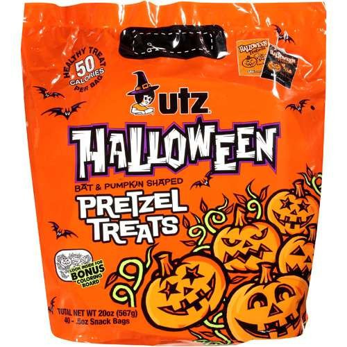 Utz Halloween Pretzels  Utz Halloween Bat & Pumpkin Shaped Treats Pretzel 20 oz