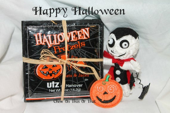 Utz Halloween Pretzels  Halloween Utz Pretzel Coasters Set of 4 by Chew ThisOrThat